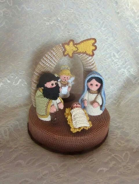 Crochet nativity scene. Presepe