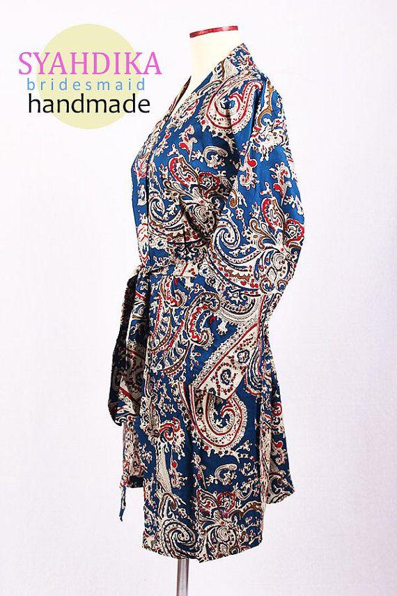 Wholesale kimono Dress Blue Paisley Pattern For by syahdika