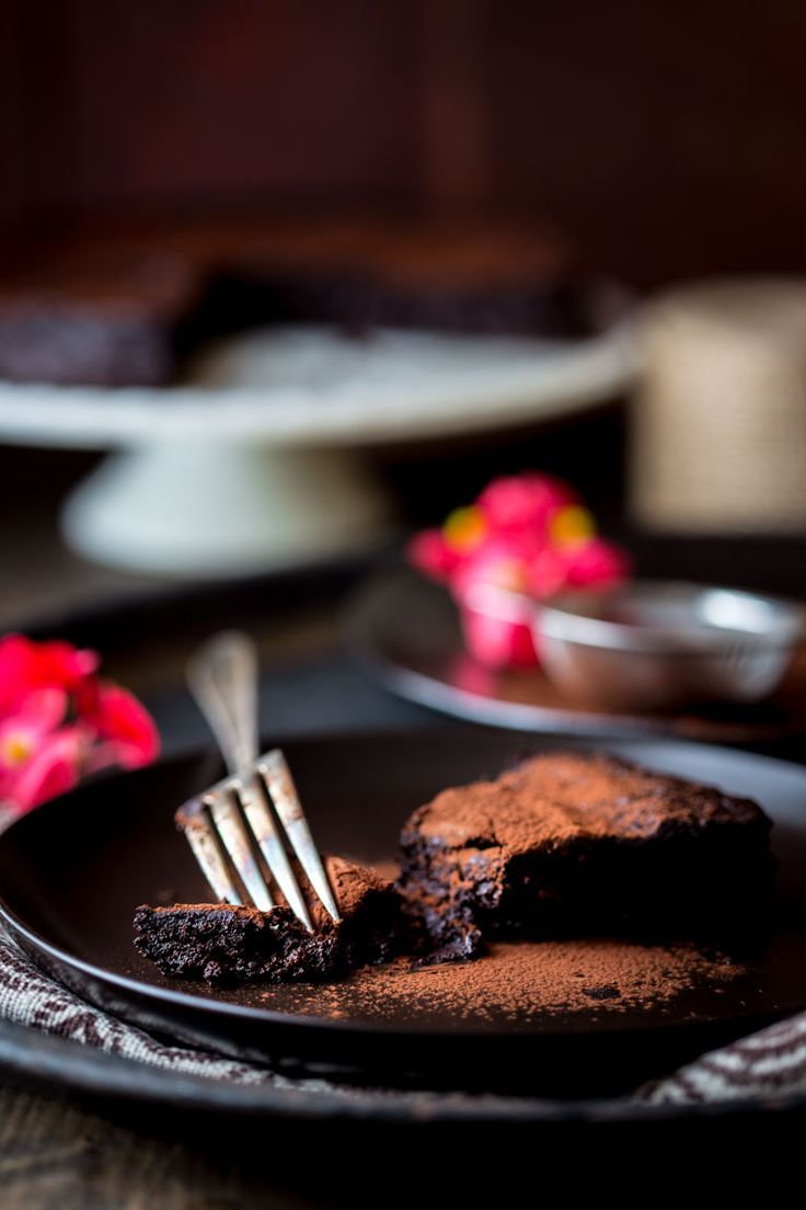 Skinny Flourless Dark Chocolate Cake   Gluten Free   Dairy Free   Vegetarian   Dessert   Healthy Seasonal Recipes   Katie Webster