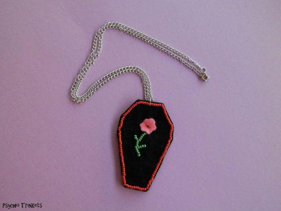 Coffin pendant by PsychoTrinkets on Etsy