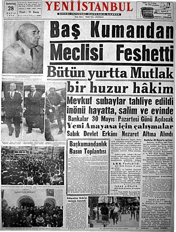 Yeni İstanbul. 28 mayis 1960