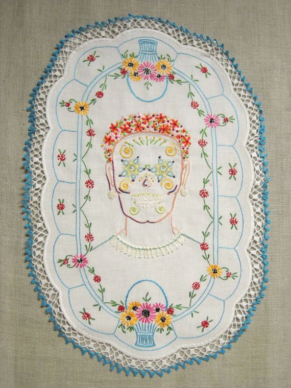 Embroidery Female Portrait Hoop Art Embroidery Art by wilshepherd