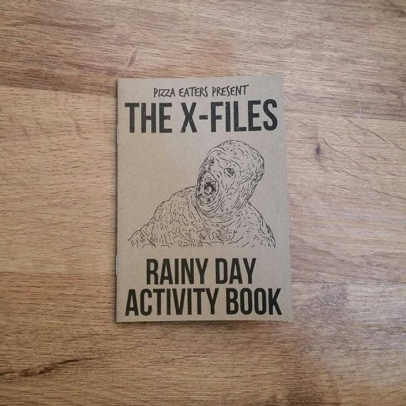 The X Files Rainy Day Colouring Activity Book By PizzaEaters