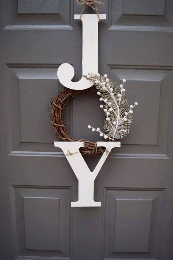 Joy Wreath...these are the BEST Christmas Wreaths!
