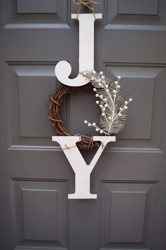 Joy Wreath...these are the BEST Christmas Wreaths!