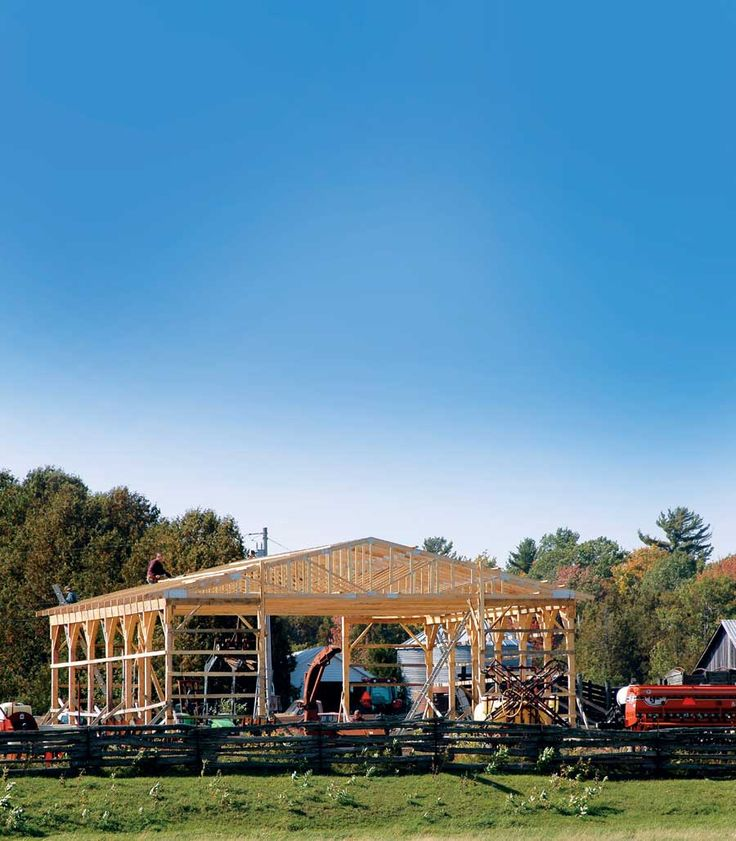 Build a DIY pole building for a fast, solid, and cost-effective workshop, storage space, horse barn, or livestock pasture shelter.