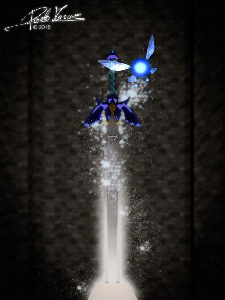 Master Sword da The Legend of Zelda: Ocarina of Time.   Modellazione in Cinema 4D, rendering con V-Ray + post-produzione con LightRoom & Photoshop.