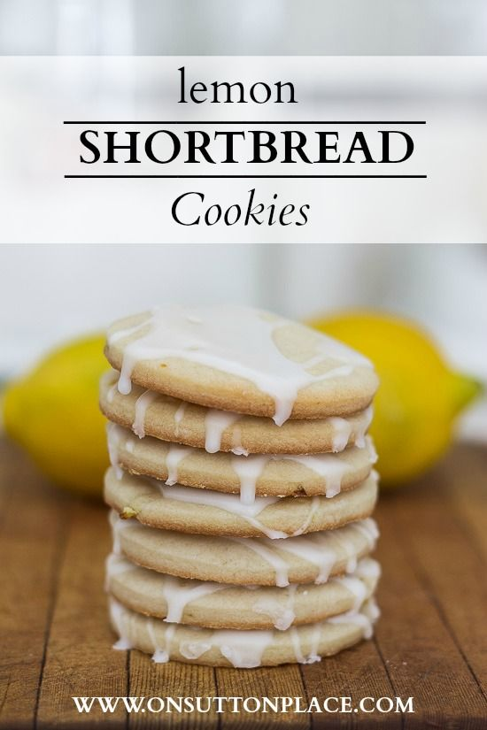 A fresh lemon and sugar glaze tops off these lemon shortbread cookies. They melt in your mouth!