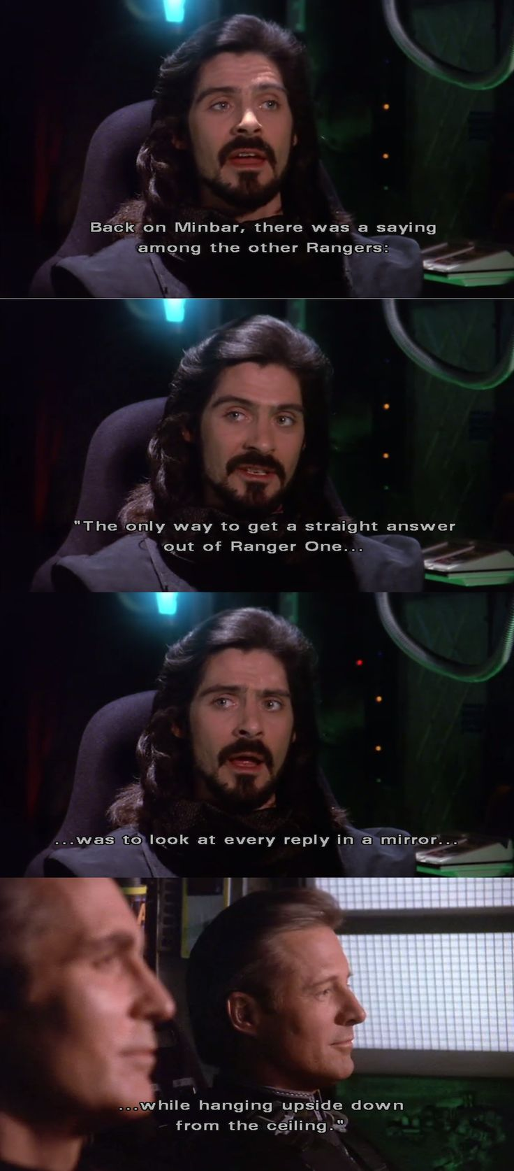 He's definitely becoming a Minbari. Babylon 5 rewatch 3x16