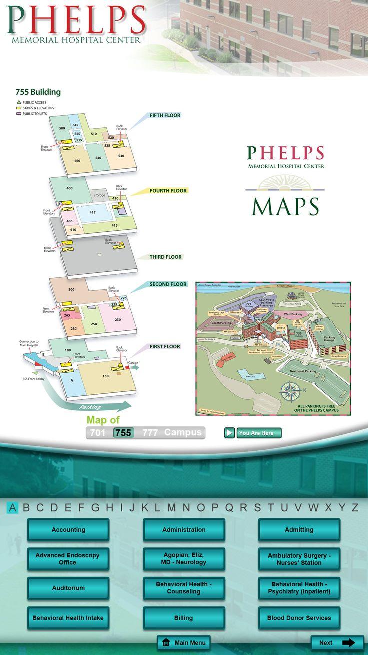 Phelps Memorial Hospital Wayfinding Kiosk