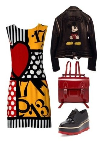 """College Life"" by christie-devina on Polyvore featuring Moschino, The Cambridge Satchel Company, Philipp Plein and Prada"