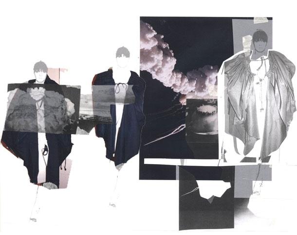 Fashion Sketchbook - moodboard layout & design - fashion portfolio; the creative process // Becky Burton
