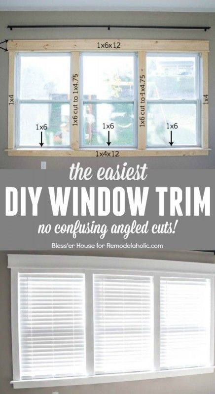 DIY Easy Craftsman Window Trim | Remodelaholic | Bloglovin' Bless er house