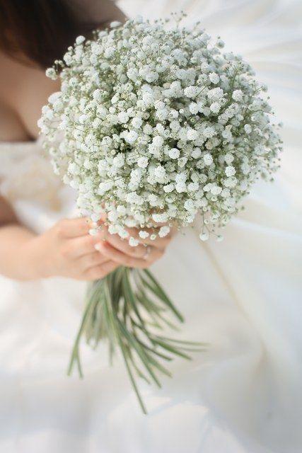 結婚式場写真「かすみ草メインのブーケアレンジ 好きな花を存分に使って!!」 【みんなのウェディング】