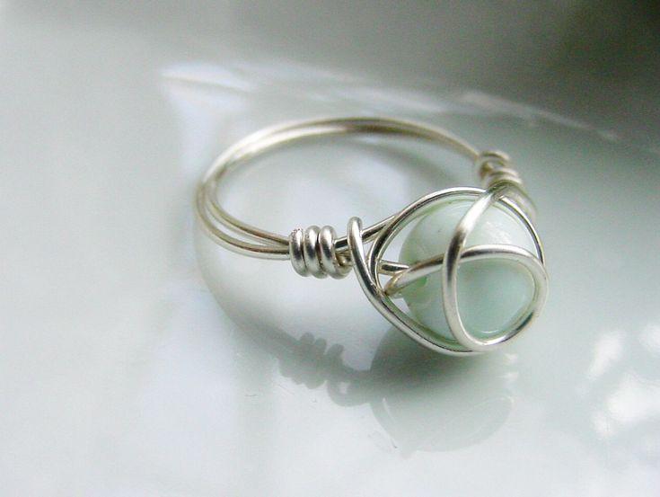 Blue Opal Wire Wrapped Ring Spiritual Opens by CherylsHealingGems