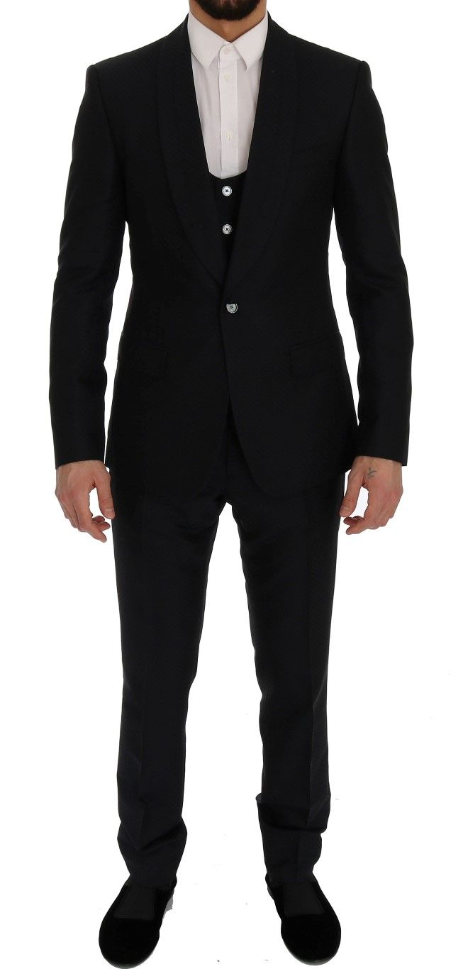 #DolceGabbana #Suits Blue Silk Wool Slim Fit 3 Piece Suit | #Blue  Dolce & GabbanaSuit Absolutely stunning, 100% Authentic, brand new with tagsDolce & Gabbanablue fantasy pattern silk and wool slim fit 3 piece Suit. This item comes from the exclusive MainLine Dolce & Gabbana collection. Color: Blue Style: Single breasted 3 piece suit; includes bl  Brands Vice