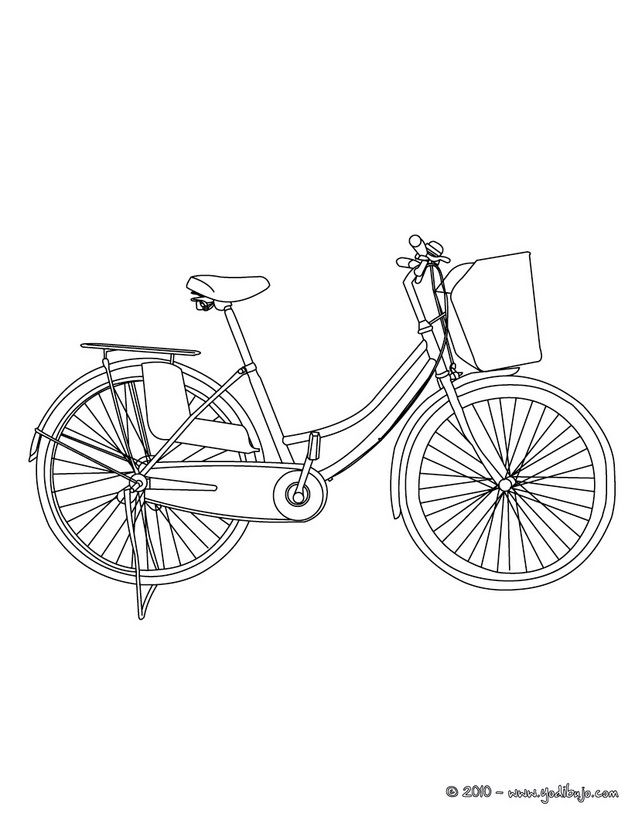 Dibujo para colorear bicicleta holandesa