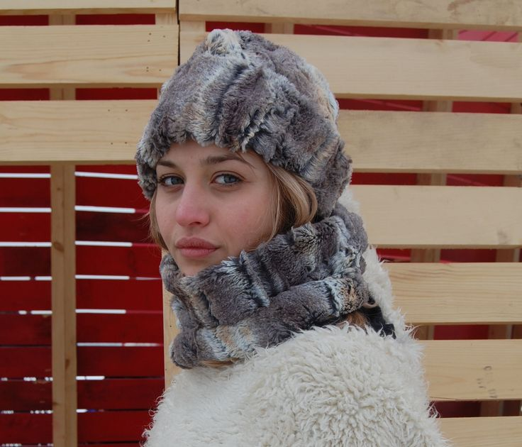 Cosy faux fur toque and neck warmer.  Take on Winter with Style! #winter #madeincanada #fauxfur #hat #winterlodge