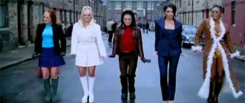 """Pin for Later: 9 Song Lyrics From the '90s That Made Absolutely ZERO Sense """"Stop,"""" Spice Girls — 1997"""
