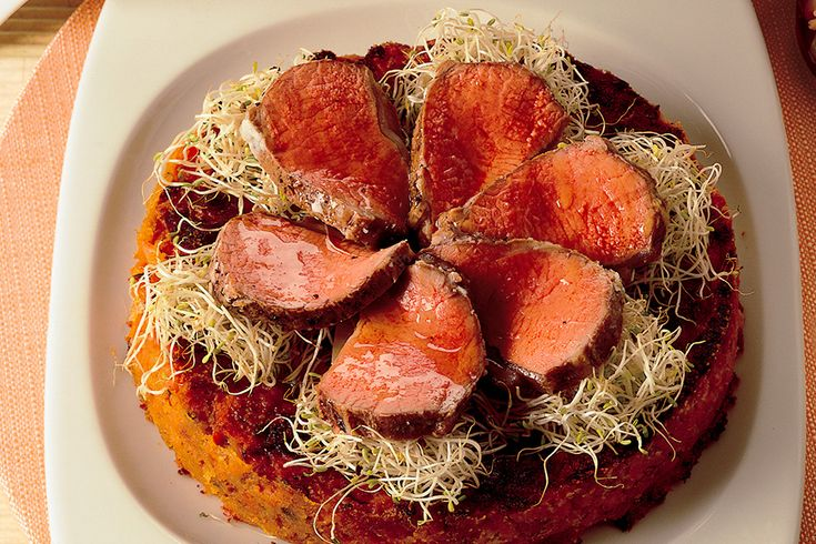 Tortino di carota al curry con agnello