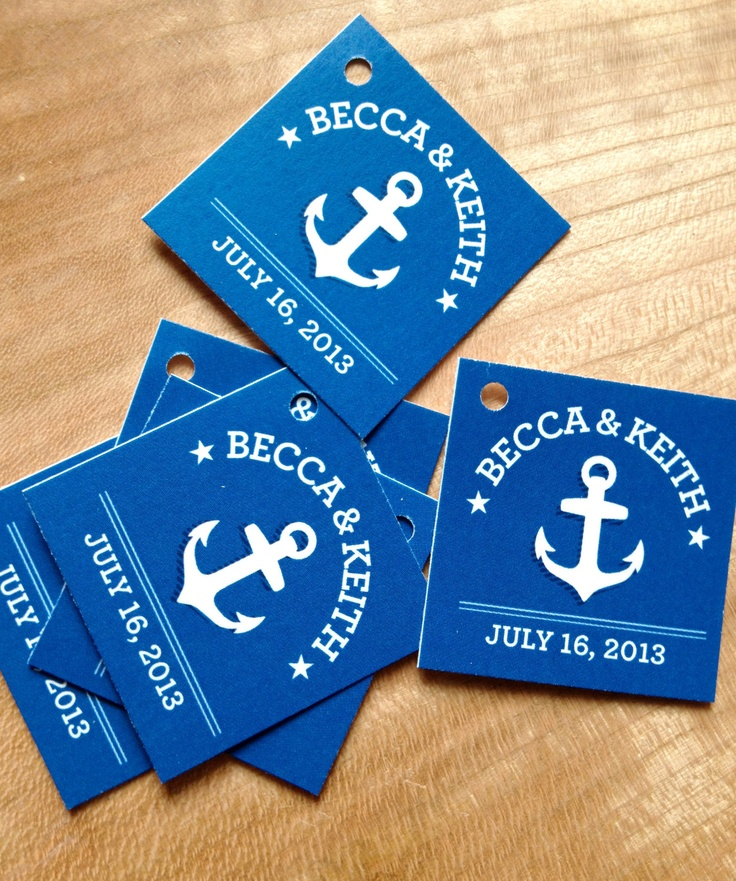 Nautical Wedding Favor Tags - Thank you tags - Anchor Wedding Gift Tags - Set of 50. $17.95, via Etsy.