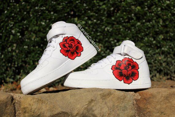 hot sale online dafec 22310 Hand painted custom Rose Nike Air Force 1. Available in mens and youth  sizes. For womens sizing take your regular womans shoe size and subtract  1.5, ...