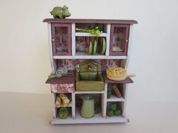 Dollhouse Miniature Furniture Rustic by MyCupTeaMiniatures on Etsy