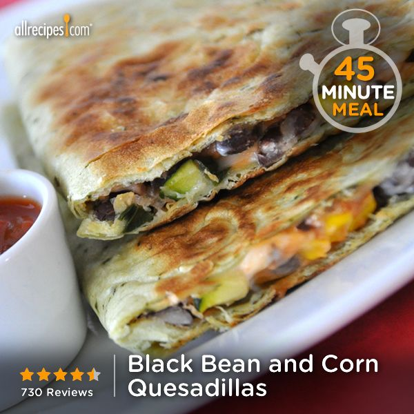 Black Bean and Corn Quesadillas | Really cheesy, a little spicy, and a ...