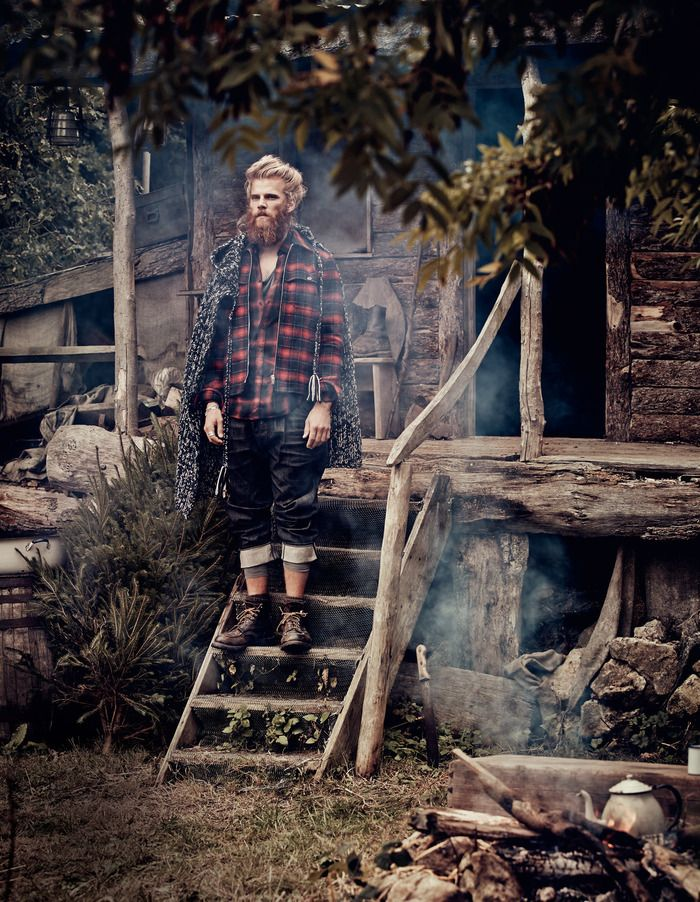 'Forest Hunk' by Diego Merino & Damian Foxe for How To Spend It.