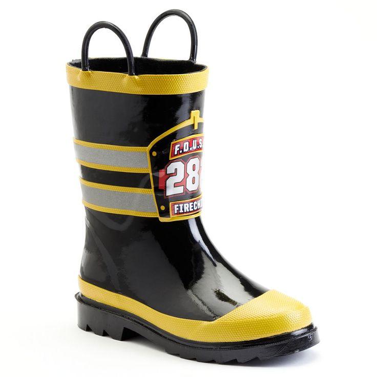 Western Chief F.D.U.S.A. Toddler Boys' Rain Boots, Size: 10 T, Black
