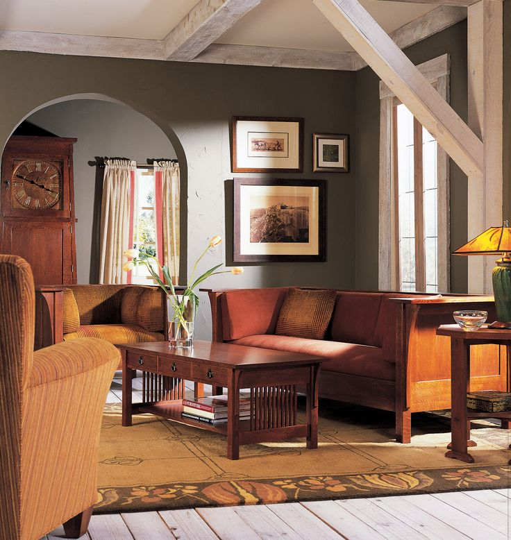 Craftsman arts crafts bungalow stickley mission - Arts and crafts home interior design ...