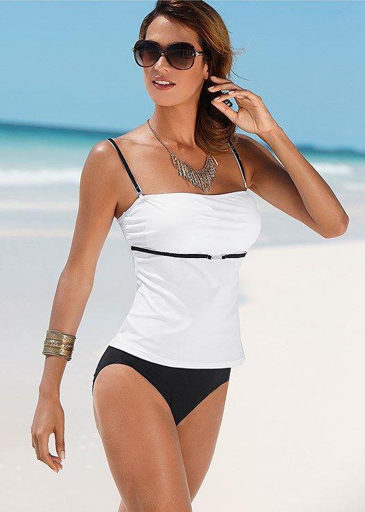 Venus Women's Tankini Swimsuit Tops - Black/white, Size 12