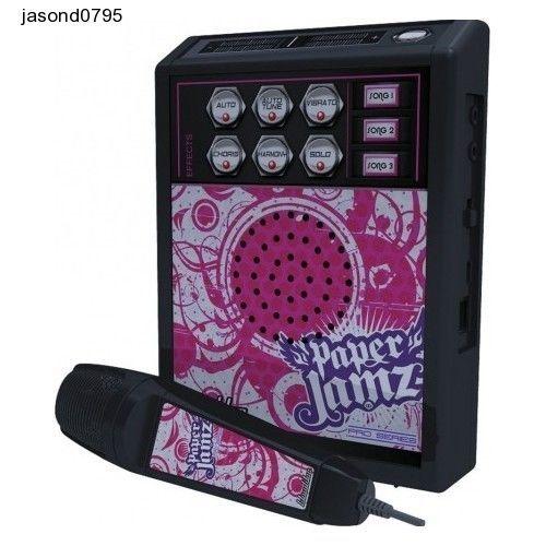 Kids Karaoke Mic Music Machine Childrens Parties Paper Jamz Pro Microphone Pink