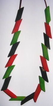 kwanzaa necklace 7 Kwanzaa crafts for kids green land, blck people, red blood shed for stuggle of freedom