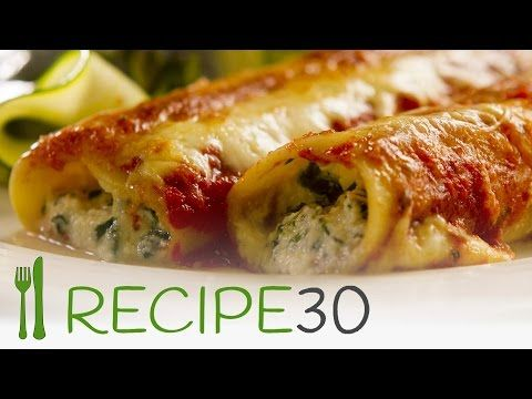Try me, SPINACH AND RICOTTA CANNELLONI - By www.recipe30.com - YouTube