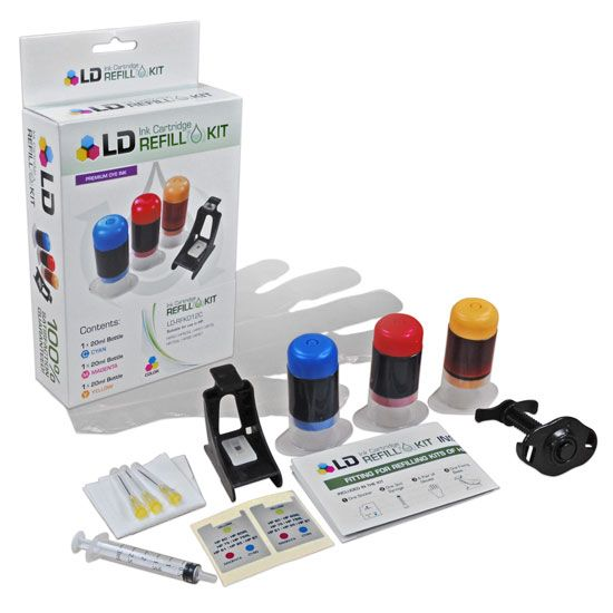 LD Refill Kit for Hewlett Packard C9363WN (HP 97) Color Ink Cartridges: Save money with the LD HP 97 Color Ink Refill Kit for Hewlett…