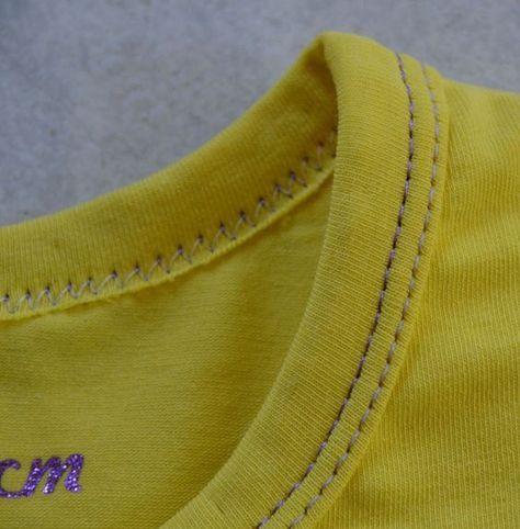 Coudre un biais jersey sur une encolure