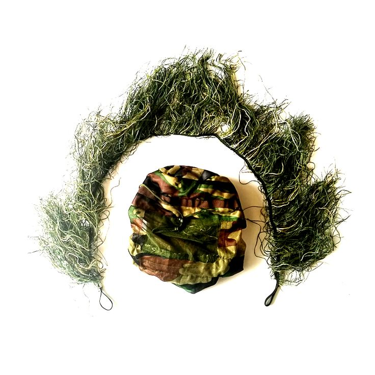 Hunting grass type Sniper tactical camouflage headvie hood cap and Rifle rope for Ghillie Suit hunting cloth www.peoplebazar.net    #peoplebazar
