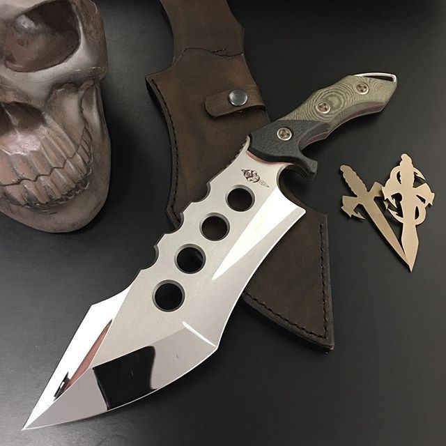 I've given this industry over 25 years of great innovation in knife making..I give you my Son Sean Marfione! And his new creation The Juggernaut!! #eccks2017 #knife #knifenut #knifepics #copper #seanmarfione #son #marfionecustom #marfionemafia #microtech #mirrorpolish #craft #blades #leatherwork #fixedblade #badassery