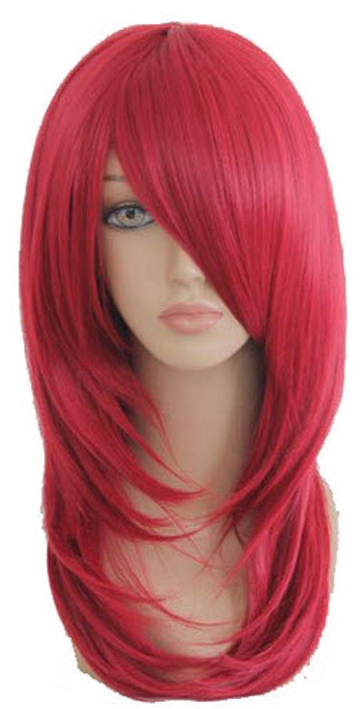 SMILE Cosplay Anime 55cm Medium Naruto-Uzumaki Karin Burgundy cosplay red wig -- Click image to read more details. #hairstylist