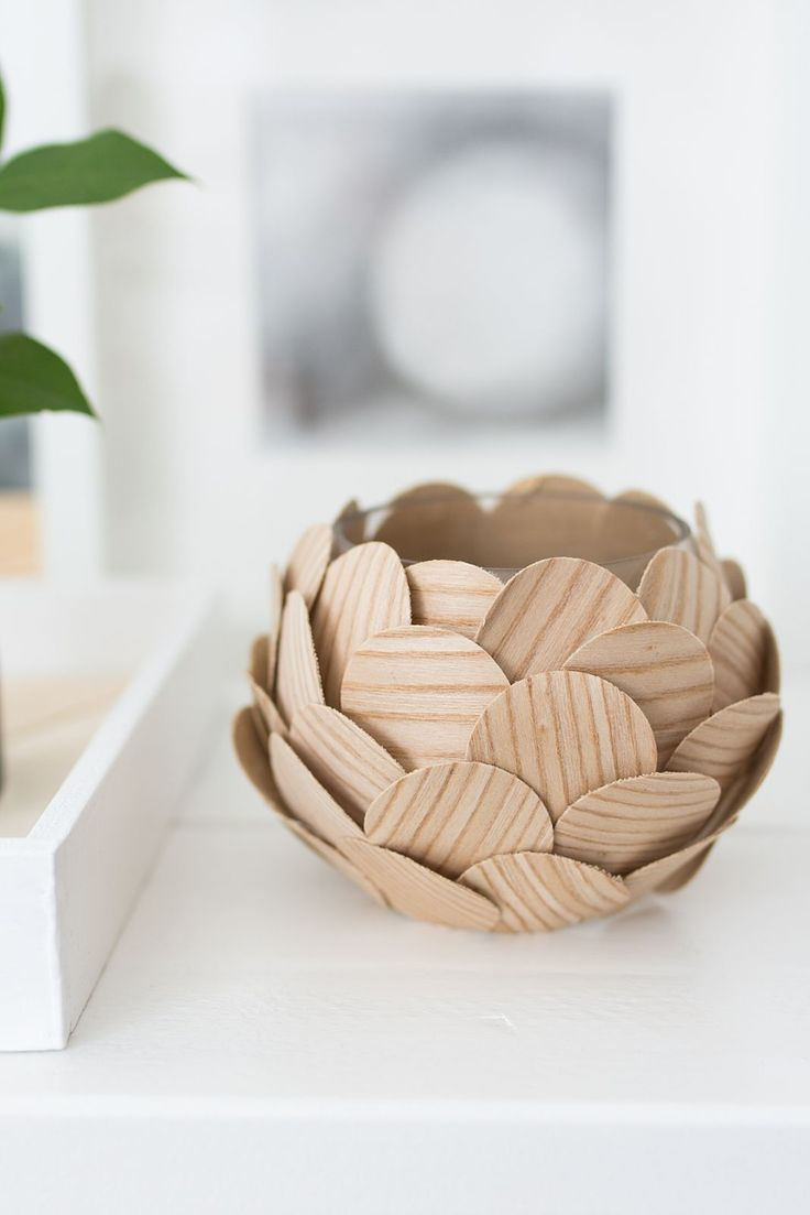 DIY Holzfurnier-Vase