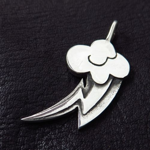 Silver Rainbow Dash pendant. MLP. My Little Pony. Friendship. FiM. Brony. #Pendant