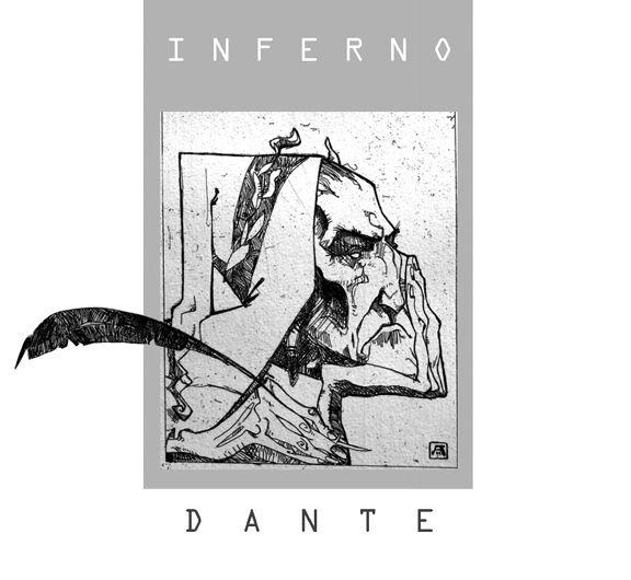 Dante, Etching, Aidan Harte #dante #inferno