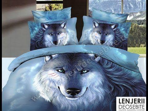 Lenjerie de pat cu lupi A-8268 Cumparati aceasta lenjerie de pat intrand aici http://www.lenjeriidepatdeosebite.ro