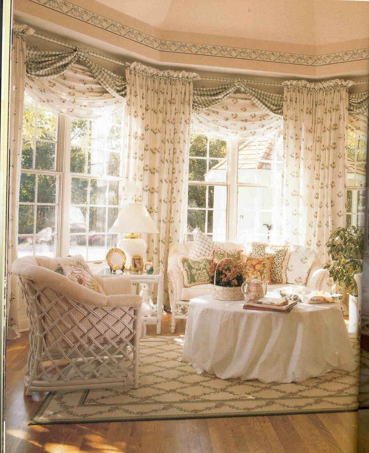 586 best images about home decoration ideas on pinterest for Cottage style curtain ideas