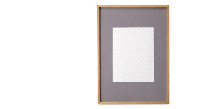 Portland Bilderrahmen 50 x 70 cm, Eiche mit grauem Passepartout (40 x 50 cm)