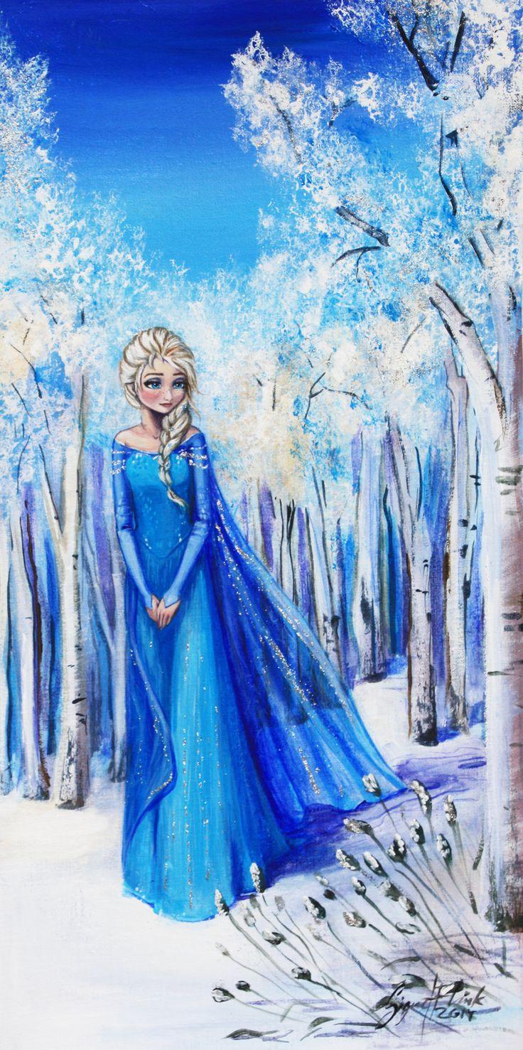 acrylic Elsa.  source: http://signesandelin.deviantart.com/art/Elsa-snow-queen-451061451