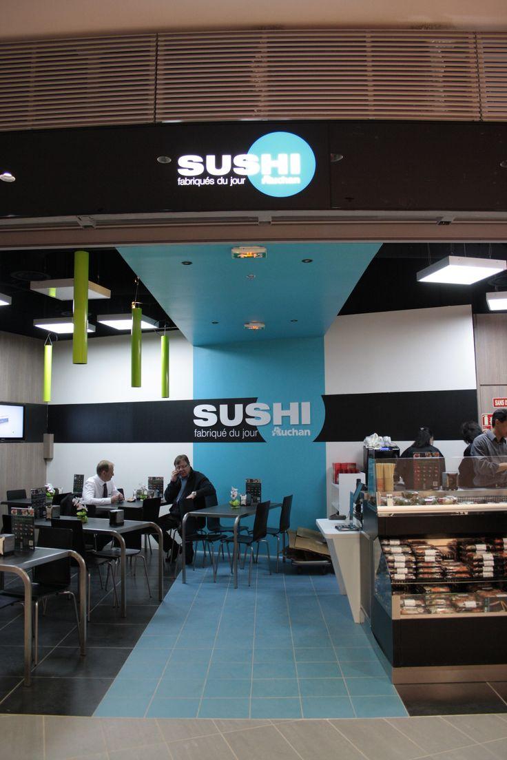 Agencement sur-mesure d'une chaîne de restaurants de sushis