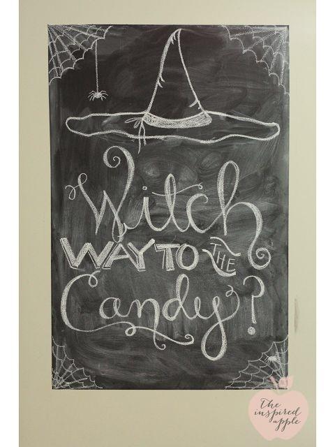 Unique Fall Chalkboard Ideas On Pinterest Fall Chalkboard - Cool chalkboard halloween decor