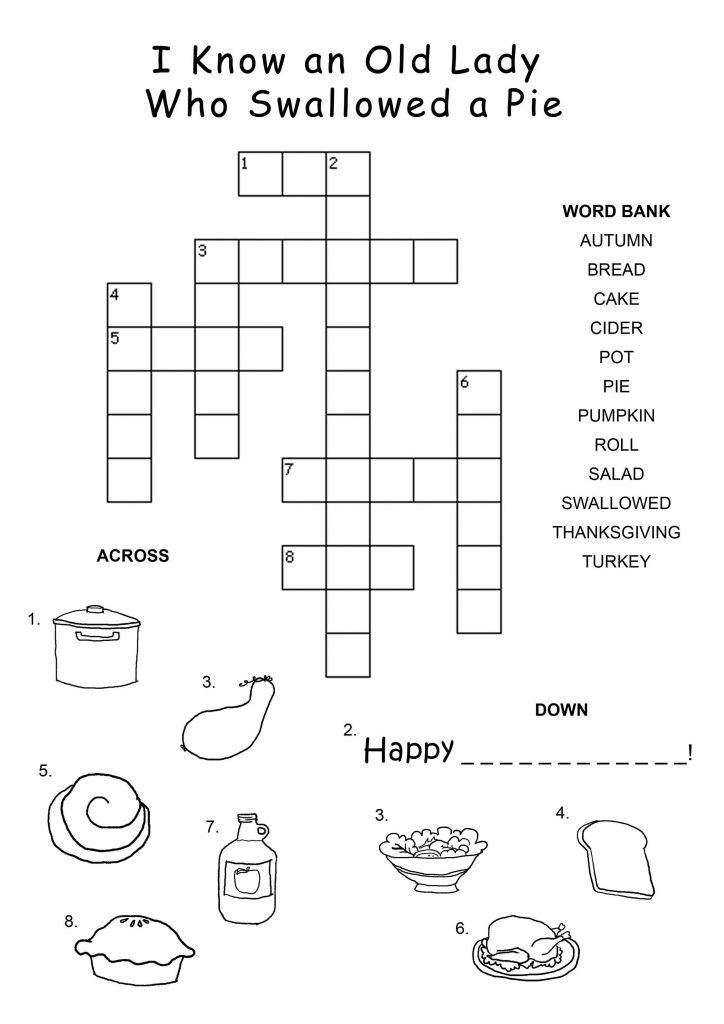 Crossword Puzzles For Kids Coloring Pages Activity Pages Kids